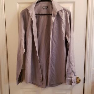 Men's Gray Kenneth Cole Reaction Collared Shirt
